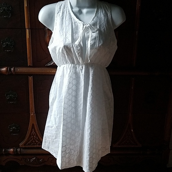Elif Other - White Cotton Eyelet Swim Cover Nightgown S